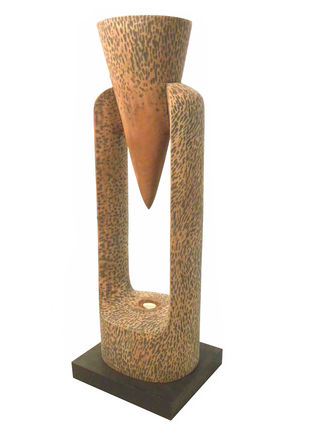 Bindhu Thecke Sindhu by Sukanta Chowdhury, Art Deco Sculpture | 3D, Wood & Brass, White color