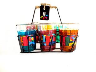 Quirky kitsch cutting chai set- Rickety Ricks Serveware By Pyjama Party Studio