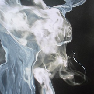 Figure In Smoke Digital Print by Ashok Roy,Impressionism