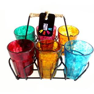 Quirky kitsch cutting chai set- Textured set Serveware By Pyjama Party Studio