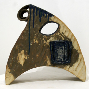 Proto Conurbation by Srinia Chowdhury, Art Deco Sculpture   3D, Ceramic, Gray color