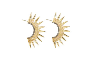SUN SPIKED EARRING by Vasundhara, Contemporary Earring