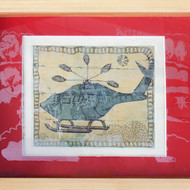 Paula sengupta   vehicles of war 3  etching   acquatint on paper serigraph on acrylic 13.5 x 10