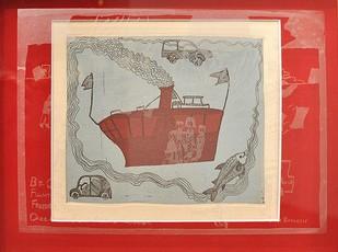 Vehicles Of War 2 by Paula Sengupta, Illustration Printmaking, Etching and Aquatint, Beige color