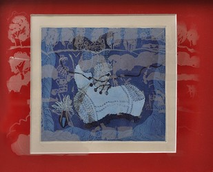 Soldier's Boot by Paula Sengupta, Illustration Printmaking, Etching and Aquatint, Brown color