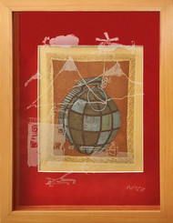Ammunition by Paula Sengupta, Illustration Printmaking, Etching and Aquatint, Brown color