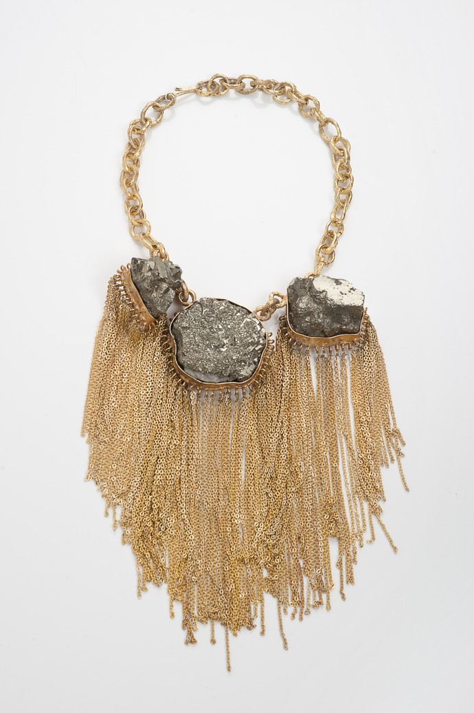 Chained Rock Necklace by Vasundhara, Contemporary Necklace