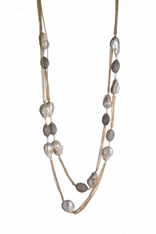 MYSTERY OF MOTHER OF PEARLS Necklace By Vasundhara