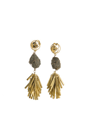 SPIRAL ROCK CLUSTER by Vasundhara, Contemporary Earring