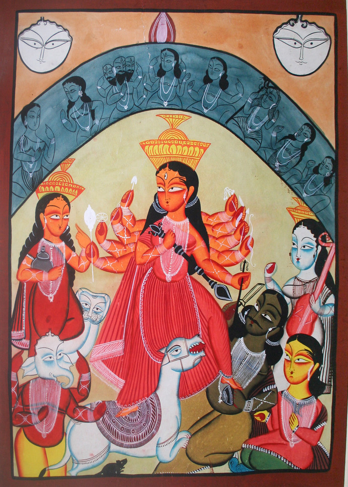 Kalighat Style Painting By Unknown Artist