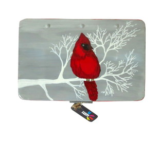 Trippy Trinket boxes- handpainted keepsake box Red Birdie Decorative Box By Pyjama Party Studio
