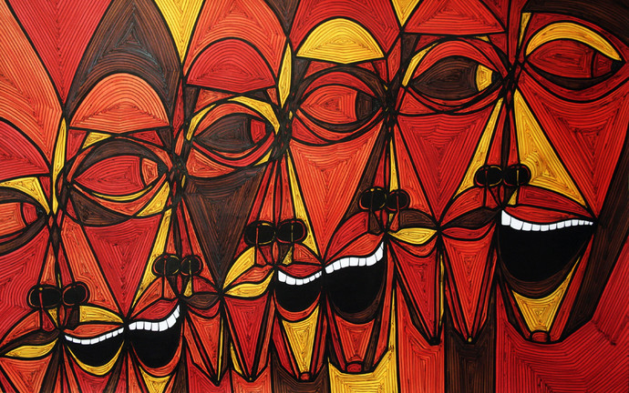 A Bargain Agreement - The Agreement 1 by Dhanur Goyal, Expressionism Painting, Ink on Paper, Brown color