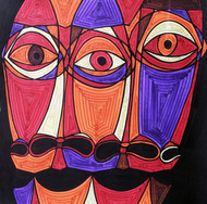 A Bargain Agreement - The Agreement 3 by Dhanur Goyal, Expressionism Painting, Ink on Paper, Brown color