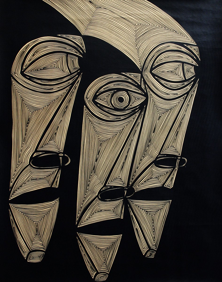A Bargain Agreement - Suspicion(brown) by Dhanur Goyal, Expressionism Painting, Ink on Paper, Brown color