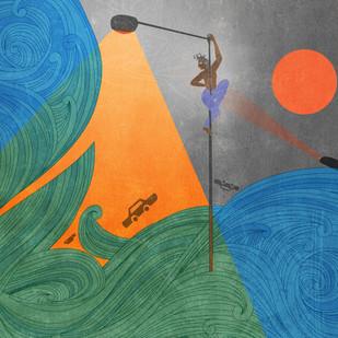 The Flood by Smruthi Gargi Eswar, Digital Digital Art, Digital Print on Archival Paper, Green color