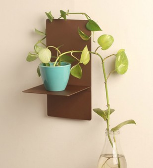 Bronze T Shelf Wall Decor By Designmint
