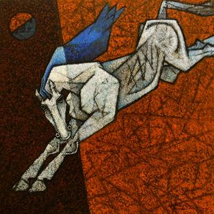 Charging Ahead In My Dreams Artwork By Dinkar Jadhav