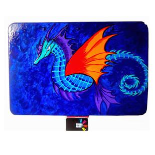Trippy Trinket boxes- handpainted keepsake box Sea Dragon by Pyjama Party Studio, Contemporary Decorative Box, Metal, Blue color