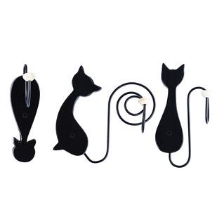 PoppadumArt Hang Meow't Cat hooks (Set of 3) Wall Decor By PoppadumArt