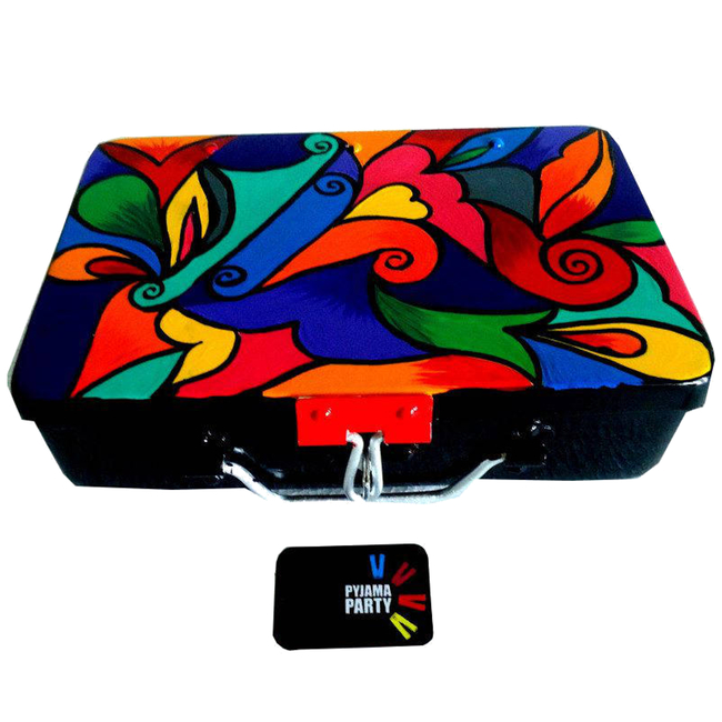 Trippy Trinket boxes- handpainted keepsake box - Colour Swirl Decorative Box By Pyjama Party Studio