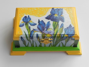 Blue Lilly Box Decorative Box By SimplyKrafted