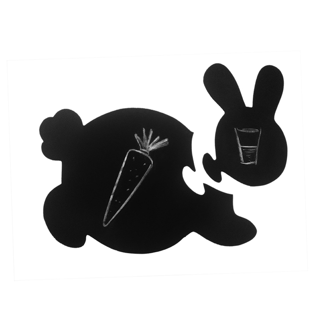 PoppadumArt Honey Bunny - Chalkboard Puzzle Mat Accessories By PoppadumArt