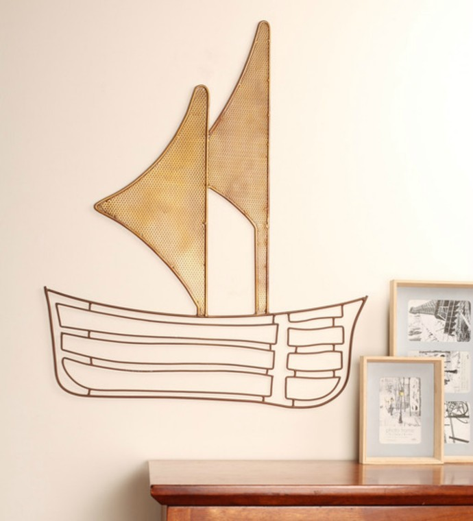 Sail Boat Wall Decor By Designmint
