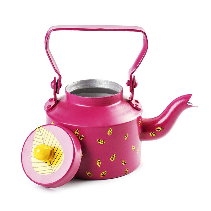 PoppadumArt Chai Kettle Pink Serveware By PoppadumArt