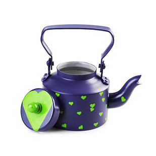 PoppadumArt Chai Kettle Royal Blue Serveware By PoppadumArt