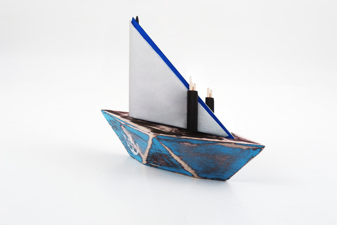 PoppadumArt PaperBoat Napkin & Toothpick Holder Tissue Box By PoppadumArt