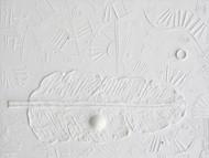 Shveta I by Vilas Kulkarni, Abstract Painting, Acrylic on Canvas, Gray color