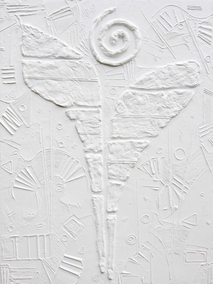 Shveta IV by Vilas Kulkarni, Abstract Painting, Acrylic on Canvas, Gray color