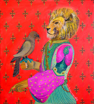 Messenger and His Majesty Digital Print by Pragati Sharma Mohanty,Traditional