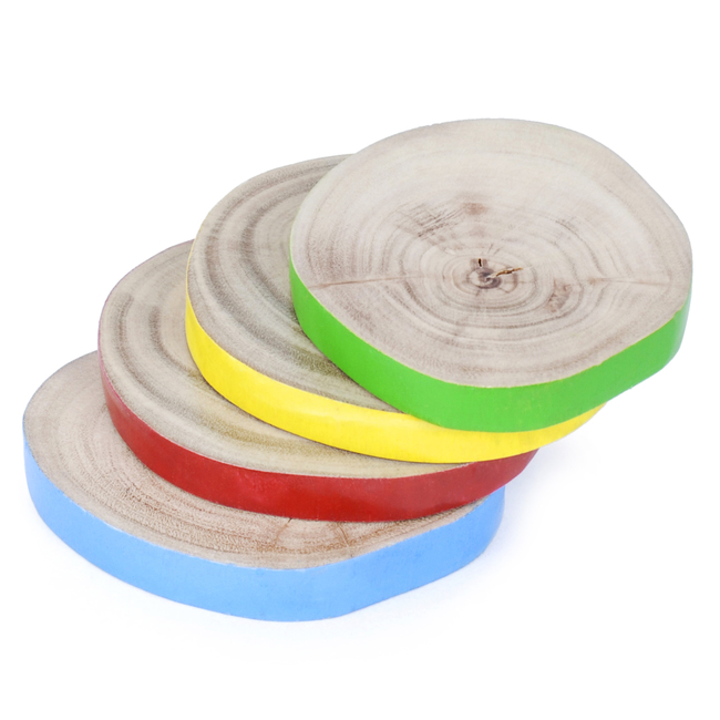 PoppadumArt Rustic Wood Coasters Accessories By PoppadumArt