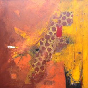 Maya series by Anita Vilas Kulkarni, Abstract Painting, Acrylic on Canvas, Brown color