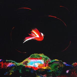 The Fly by Sumati Gangopadhya, Impressionism Painting, Acrylic on Acrylic Sheet, Black color
