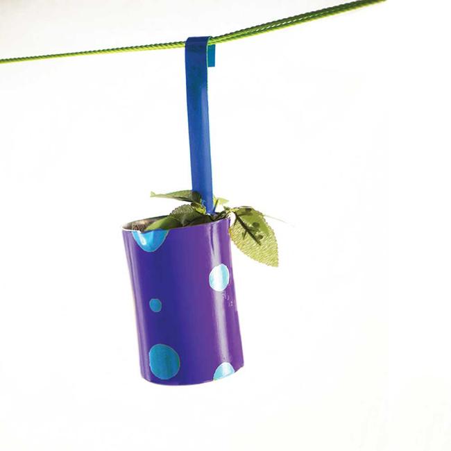 PoppadumArt Doodhwaala Planter Purple Garden Decor By PoppadumArt