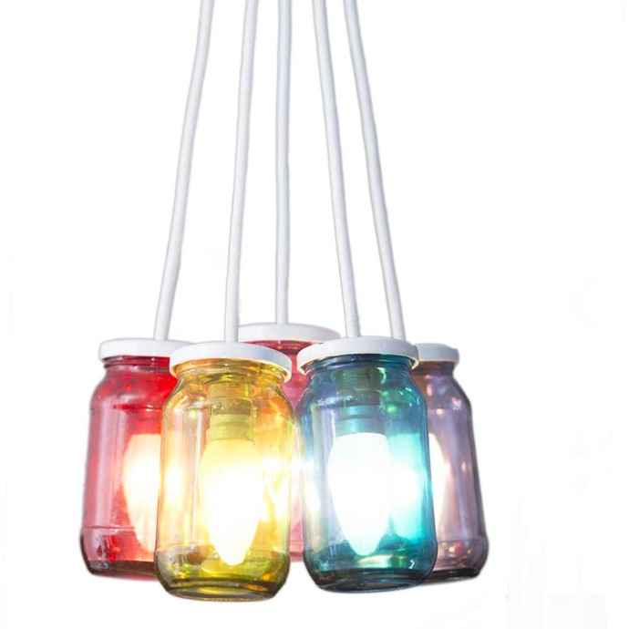 Poppadum Art Jam Lamp Technicolor Ceiling Lamp By Poppadum Art