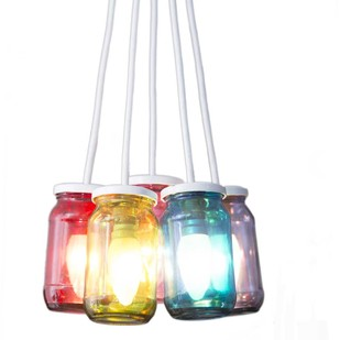 PoppadumArt JamLamp Technicolor by PoppadumArt, Contemporary Ceiling Lamp, Glass, Brown color