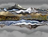 Horizons by Gautam Chaturvedi, Digital Digital Art, Digital Print on Canvas, Gray color