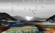 Landscape in Colour by Gautam Chaturvedi, Digital Digital Art, Digital Print on Canvas, Gray color
