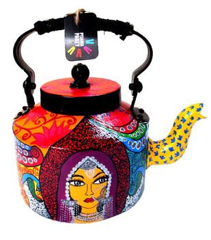Premium hand-painted kettle- Banjaran Beauty Serveware By Pyjama Party Studio