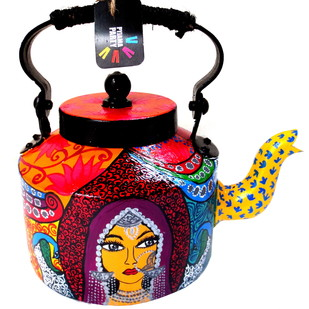 Premium hand-painted kettle- Banjaran Beauty Serveware By Pyjama Party Studio