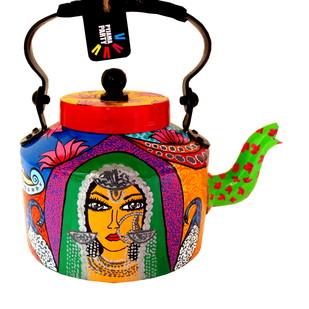 Premium hand-painted kettle- Banjaran Beauty 1 Serveware By Pyjama Party Studio