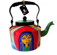 Premium hand-painted kettle- Banjaran Beauty 2 Serveware By Pyjama Party Studio