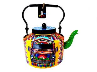 Premium hand-painted kettle- Horn OK please Serveware By Pyjama Party Studio