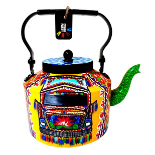 Premium hand-painted kettle- Horn OK please Serveware By Pyjama Party Studio