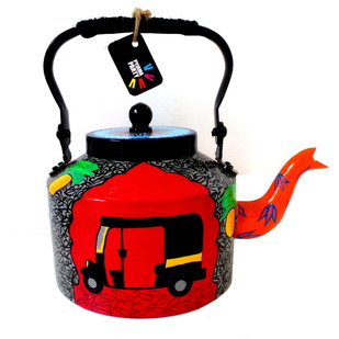 Premium hand-painted kettle- Rickshaw Serveware By Pyjama Party Studio