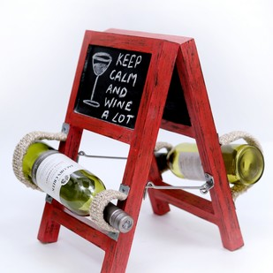Ladder Wineholder (Red) Table Ware By Desi Jugaad