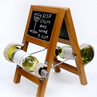 Ladder Wineholder (Teak) Table Ware By Desi Jugaad